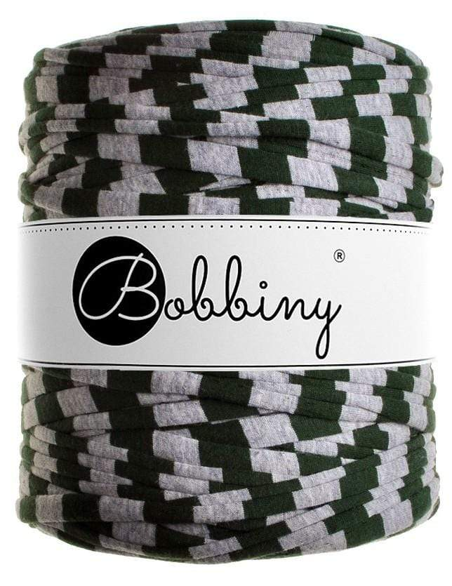 Bobbiny Yarn Forest Green Stripes (3190) Bobbiny T-Shirt Yarn (Prints)