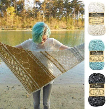Scheepjes Yarn Hotel of Bees Shawl Yarn Pack (Blue Colourway)
