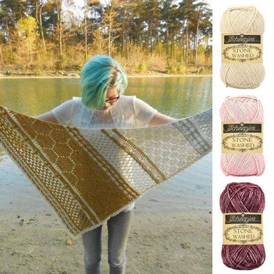 Scheepjes Yarn Hotel of Bees Shawl Yarn Pack (Pink Colourway)