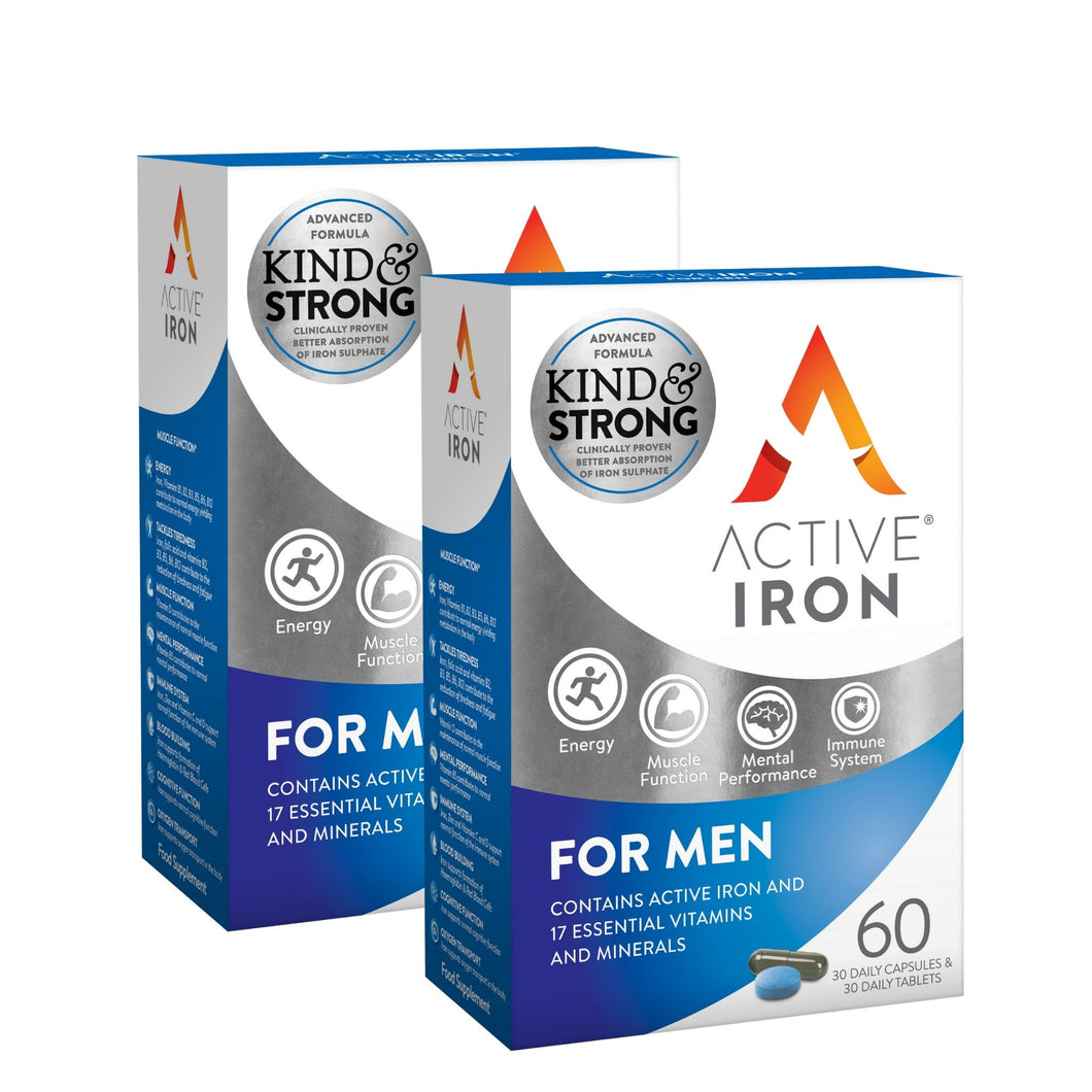 Active Iron & B Complex Plus for Men - Twin Pack