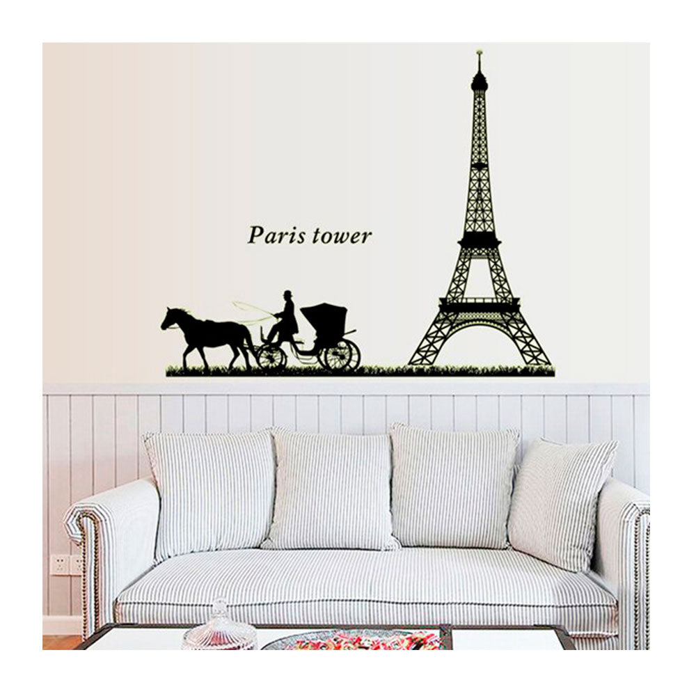 Vinilo Decorativo Sticker Autoadhesivo para Pared Ciudad París Luminoso ABQ9624