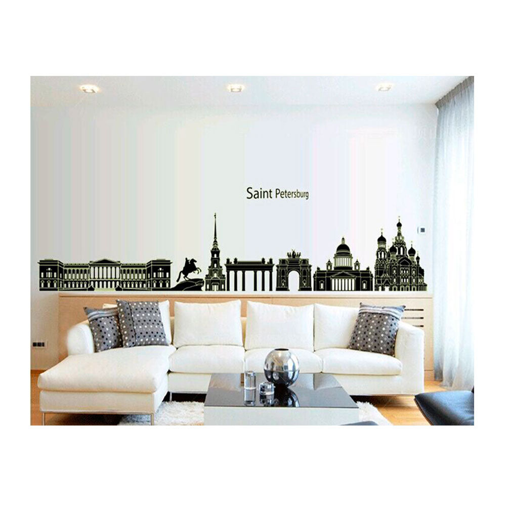 Vinilo Decorativo Sticker Autoadhesivo para Pared Ciudad Rusia Luminoso ABQ9625