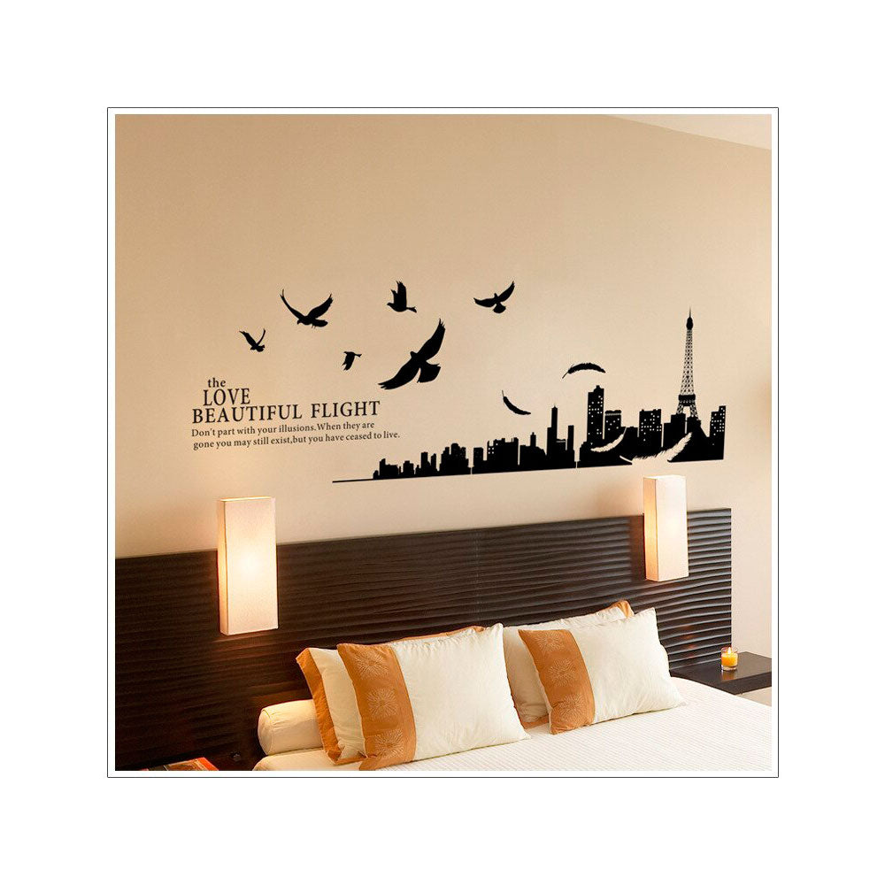 Vinilo Decorativo Sticker Autoadhesivo para Pared Paisaje Ciudad Paris BST9002