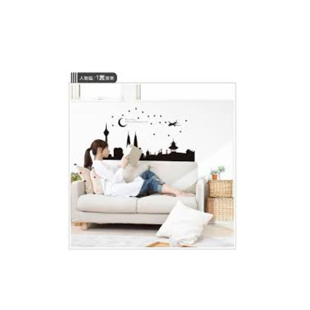 Vinilo Decorativo Sticker Autoadhesivo para Pared Ciudad BST9006