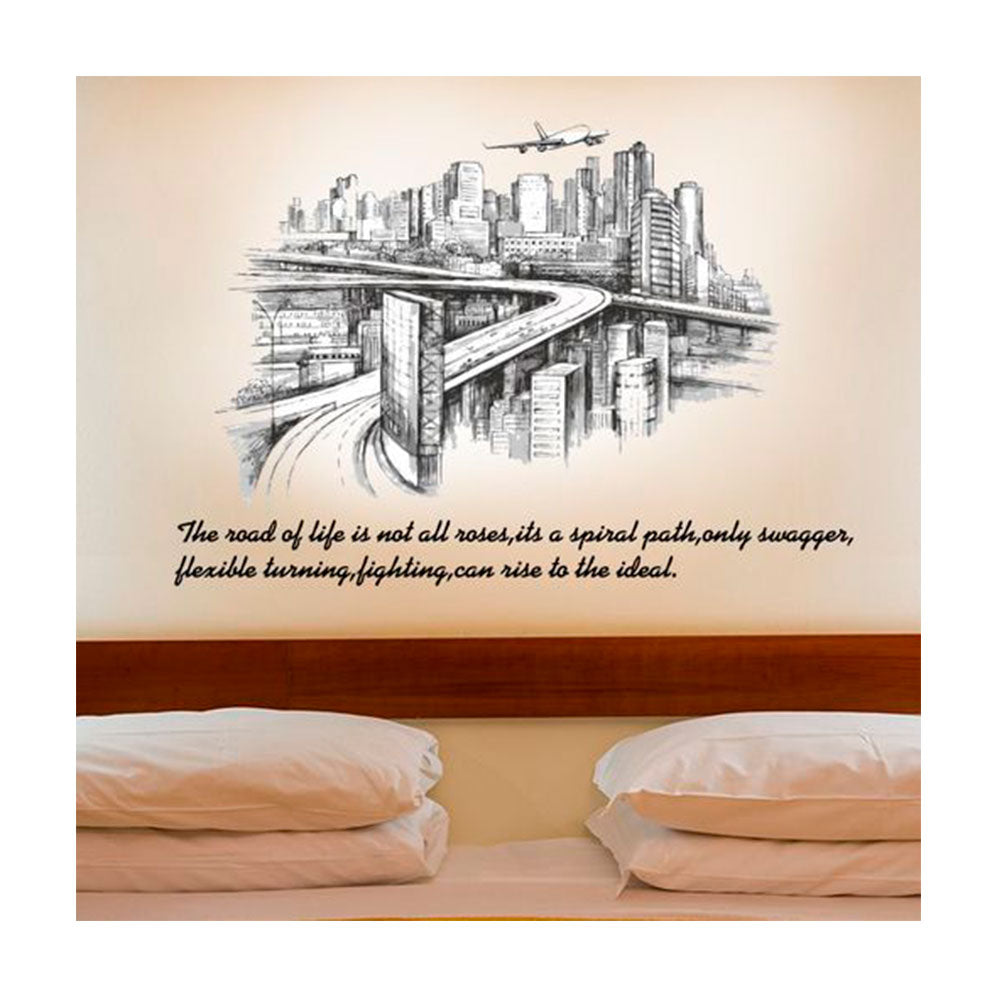 Vinilo Decorativo Sticker Autoadhesivo para Pared Ciudad Puentes SK9224