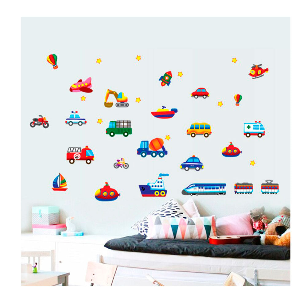 Vinilo Decorativo Sticker Autoadhesivo para Pared Infantil Carros AY7212