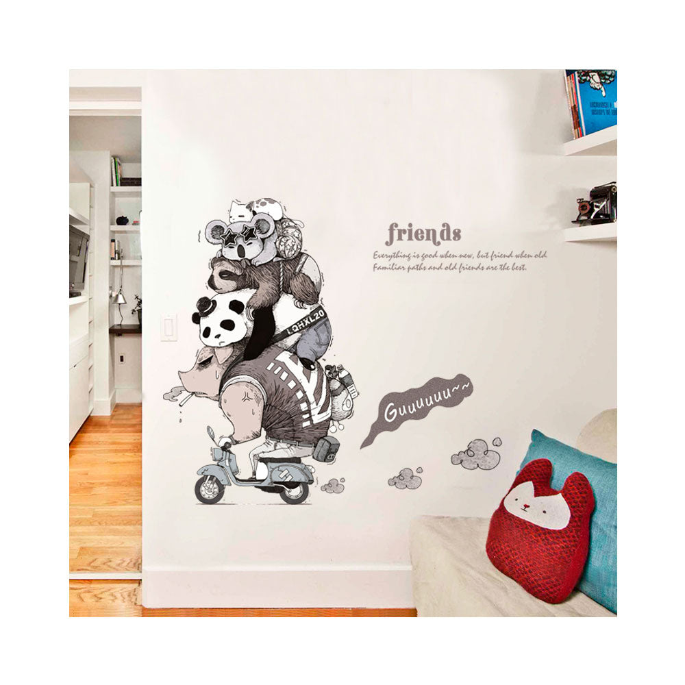 Vinilo Decorativo Sticker Autoadhesivo para Pared Moderno Animales SK9235