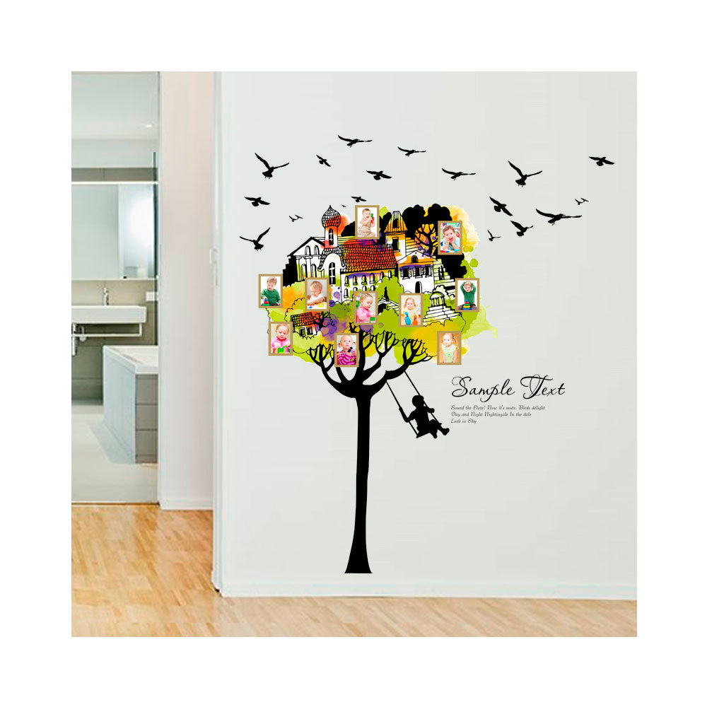 Vinilo Decorativo Sticker Autoadhesivo para Pared Naturaleza Arbol Portaretratos SK9210