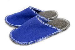 Stitched Slide-On Slipper - Blue