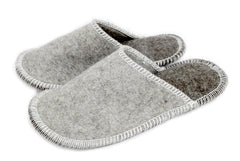 Stitched Slide-On Slipper - Natural