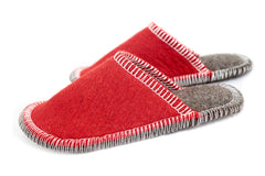 Stitched Slide-On Slipper - Red