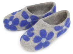Flower Slipper - Blue