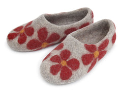 Flower Slipper - Red