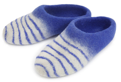 Striped Slipper - Blue