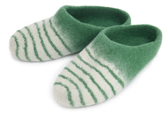 Striped Slipper - Green