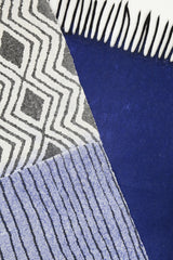 Geometric Scarf - Dark Blue