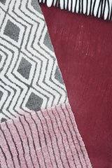 Geometric Scarf - Dark Crimson