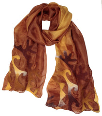 Silk Scarf - Golden Orange
