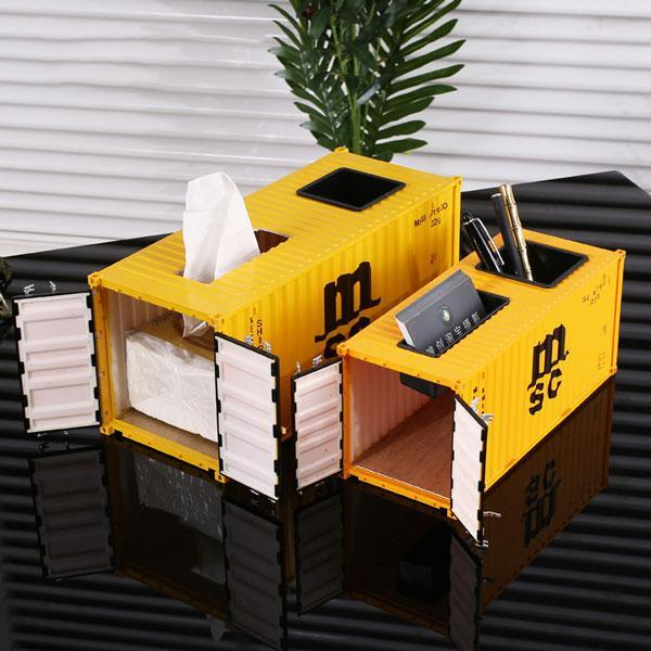 Shipping company container model decoration