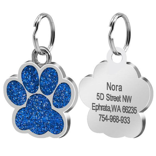 Pet Junxion accessories 2.4cm 016 Blue / M Engraved Metal Pet ID Tags