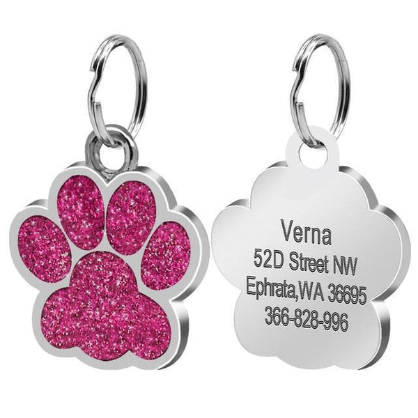 Pet Junxion accessories 2.4cm 016 Pink / M Engraved Metal Pet ID Tags