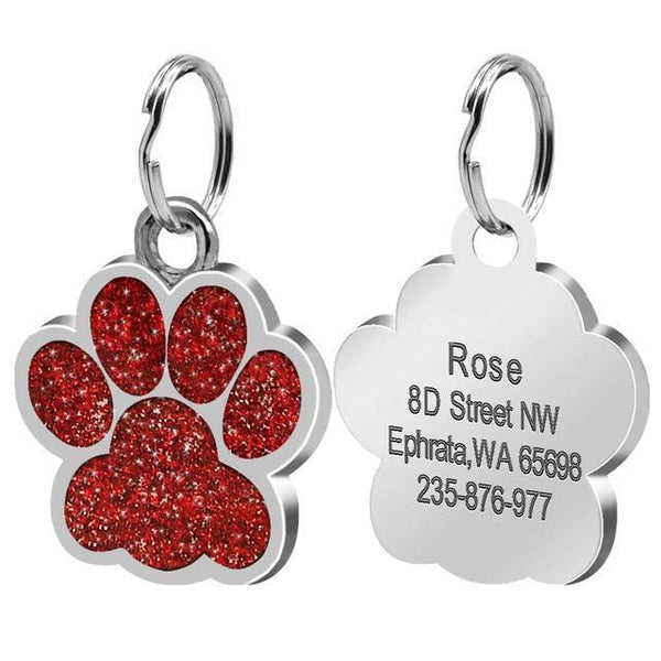 Pet Junxion accessories 2.4cm 016 Red / M Engraved Metal Pet ID Tags