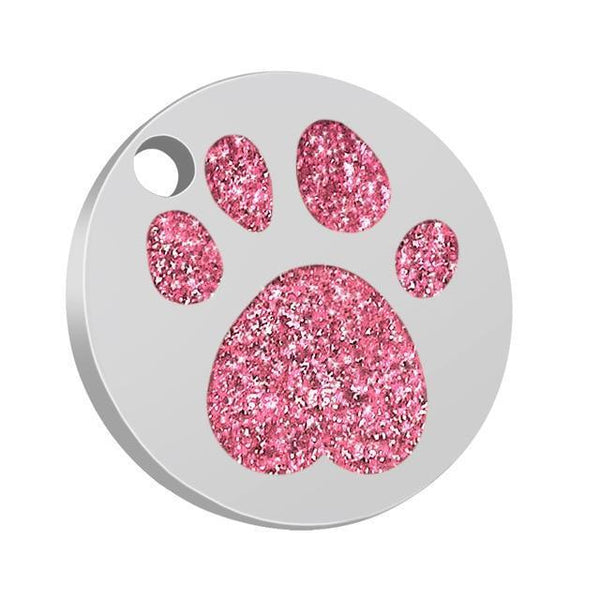 Pet Junxion accessories 2.5cm 036 Pink / M Engraved Metal Pet ID Tags
