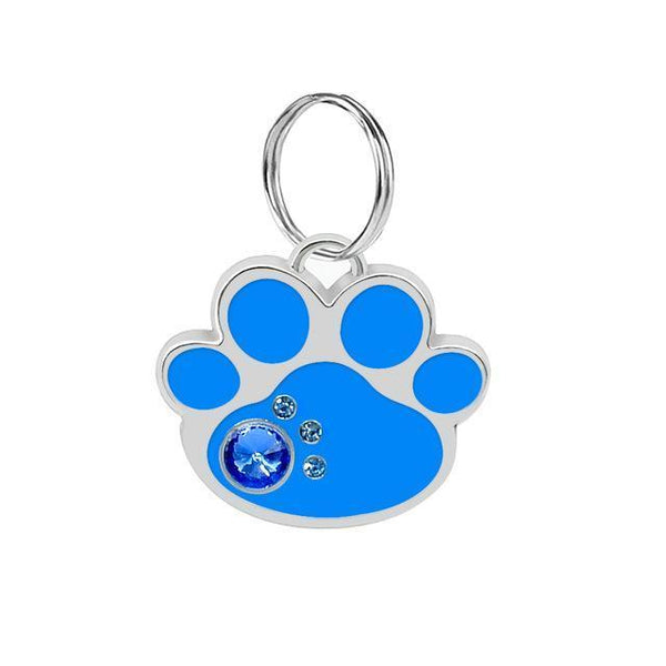 Pet Junxion accessories 3cm 022 Blue / M Engraved Metal Pet ID Tags