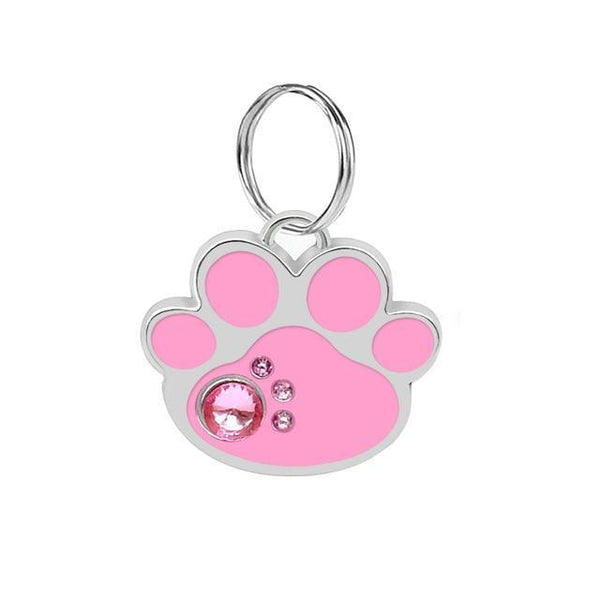 Pet Junxion accessories 3cm 022 Pink / M Engraved Metal Pet ID Tags