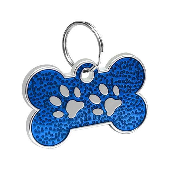 Pet Junxion accessories 3cm 023 Blue / M Engraved Metal Pet ID Tags