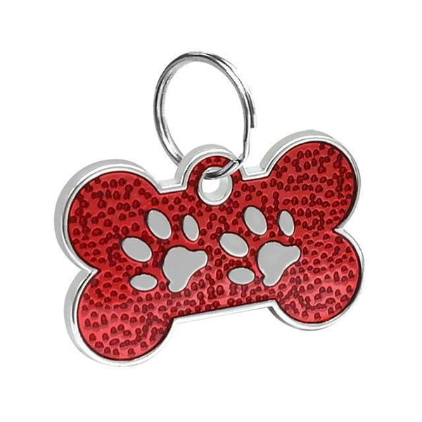 Pet Junxion accessories 3cm 023 Red / M Engraved Metal Pet ID Tags