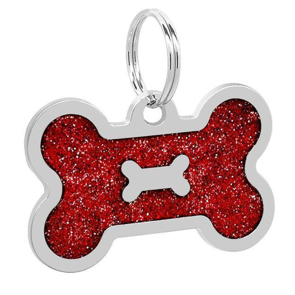 Pet Junxion accessories 4cm 037 Red / M Engraved Metal Pet ID Tags