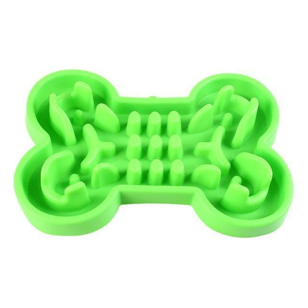 Pet Junxion accessories Green / L 33x23x5.5 cm Interactive Anti Slip Slow Food Bowl