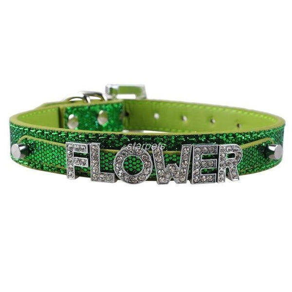 Pet Junxion accessories Green / S Bling Personalized Rhinestone Pet Collar