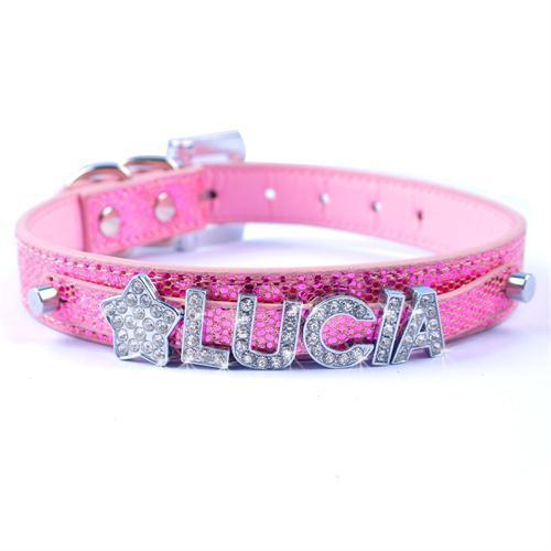 Pet Junxion accessories Light Pink / S Bling Personalized Rhinestone Pet Collar