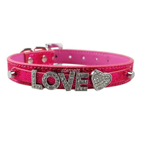 Pet Junxion accessories Pink / S Bling Personalized Rhinestone Pet Collar