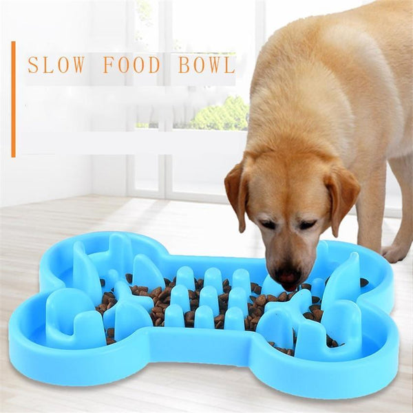 Pet Junxion accessories Rose Red / L 33x23x5.5 cm Interactive Anti Slip Slow Food Bowl