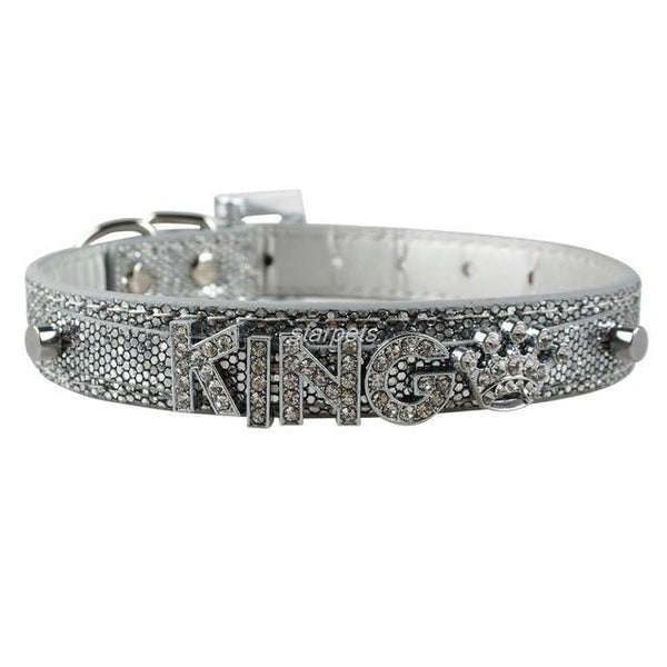 Pet Junxion accessories Silver / S Bling Personalized Rhinestone Pet Collar