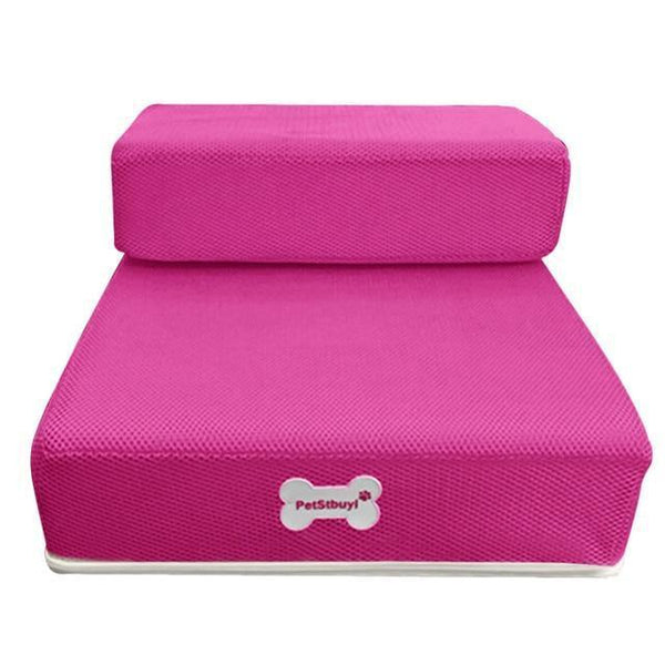 Pet Junxion bed Hot pink / See product descript / International Foldable Stairs for Cats and Dogs