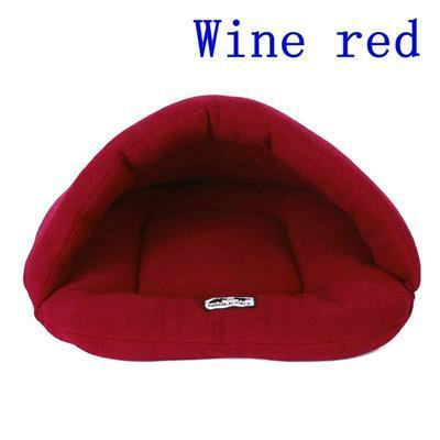 Pet Junxion bed Wine Red / L 55x65cm Warm  Winter Fleece Pet Bed