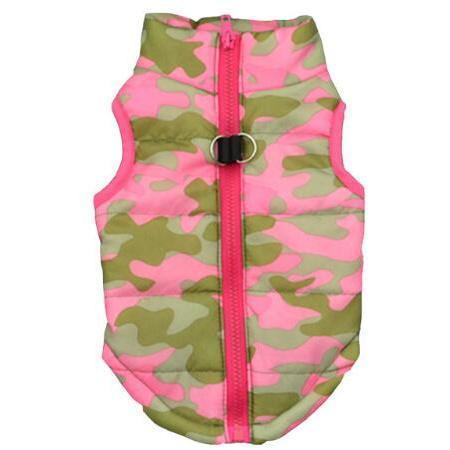 Pet Junxion clothing Pink camouflage / S Warm Windproof Winter Padded Jacket