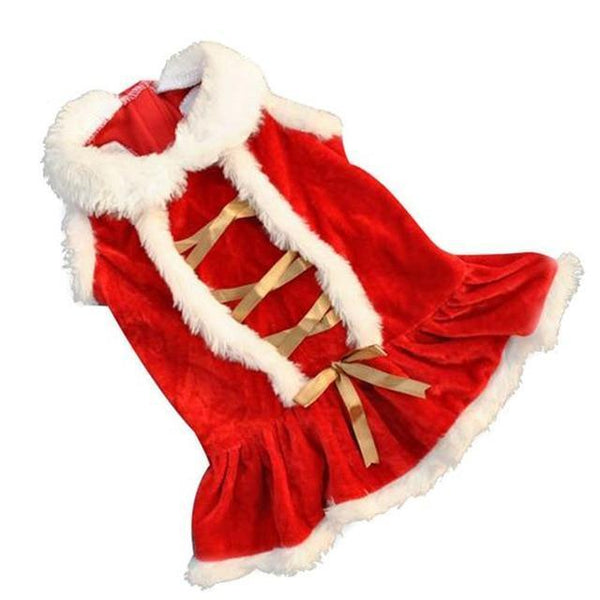 Pet Junxion clothing Red / L Red Christmas Designer Costume