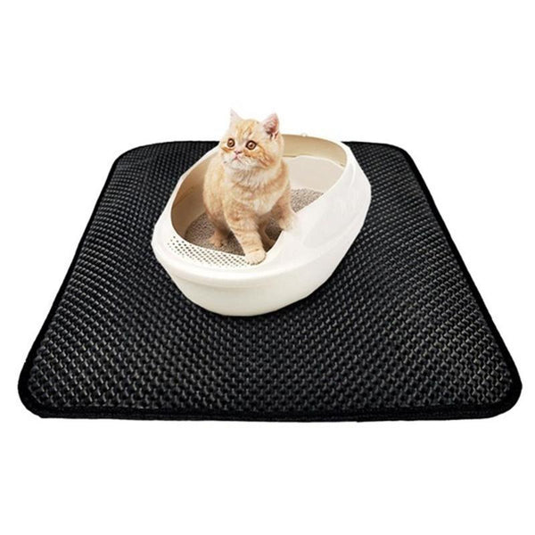 Pet Junxion grooming Black / 40x50cm Waterproof Honeycomb Cat Litter Sifting Mat