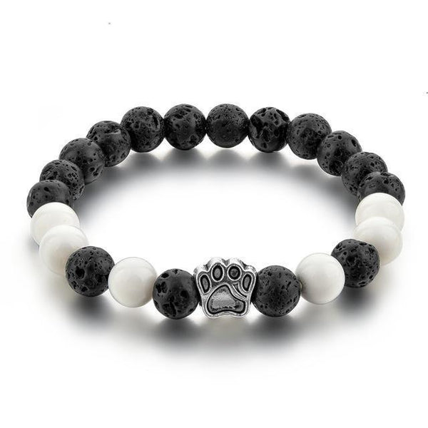 Pet Junxion jewellery Natural Stone Paw Mala Beads