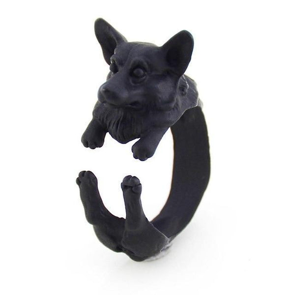 Pet Junxion ring Resizable 2 / black Retro Handmade Dog Wrap Ring