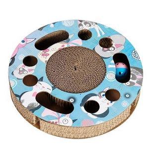 Pet Junxion toy Round Interactive Cat Scratch Board With Catnip