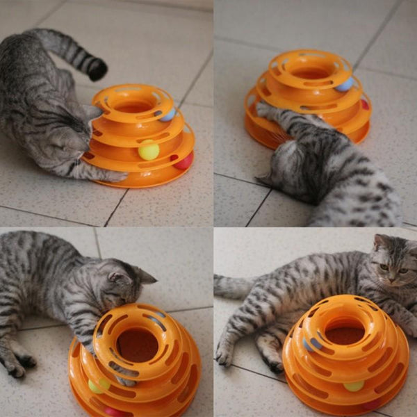Pet Junxion toy round orange Funny Cat Toys Crazy Ball  Interactive Amusement Play Disc