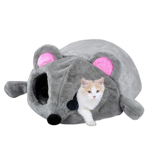 Pet Junxion Waterproof Mouse House Bed for Cats and Small Dogs