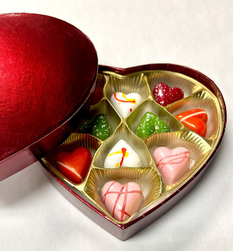 Burgundy Chocolate Hearts perfect gift for Valentine's Day
