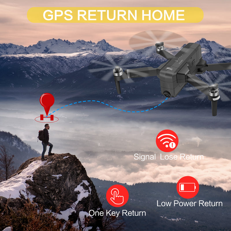 AOKESI X7 Drones with Camera for Adults 4K with 5G WiFi ,Brushless Motor,GPS Return Home,Follow Me,Trajectory Flight,30mins Li-battery and Backpack---By AOKESI